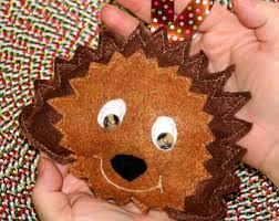 hedgehog ornaments etsy