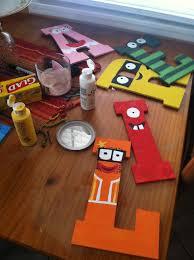 painted yo gabba gabba letters bday yo gabba gabba