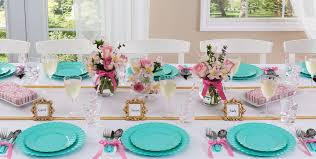 Tiffany Color Party Decorations Robin U0027s Egg Blue Tableware Robin U0027s Egg Blue Party Supplies
