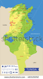 map of tunisia with cities tunisia map stock images royalty free images vectors