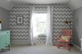 Chevron Shag Rug Grand Bedroom With White Color Brick Wall Featuring Chevron
