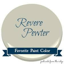 favorite paint color benjamin moore revere pewter postcards
