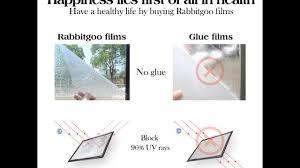 Artscape Montage Decorative Window Film by 5 Best Rabbitgoo Film Autocollant Electrostatique Fenêtre Film 3d