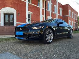 Mustang 2015 Black Grabber Blue Stripes On 2015 Ford Mustang Gt Fastback Are A Must