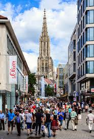 shopping in ulm germany editorial stock photo image