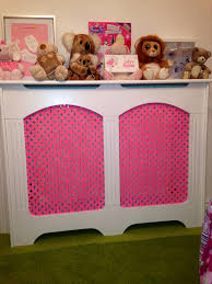 i bought a plain white radiator cover for my daughters bedroom