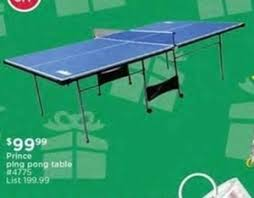 black friday ping pong table deals prince ping pong table 99 99 at sears outlet on black friday