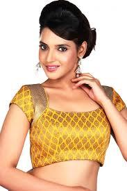 designer blouses comforting brocade yellow color designer blouse from kalaniketan com