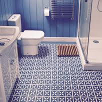 Bathroom Vinyl Floor Tiles Lattice Cornflower Blue U2013 Flooring Design By Dee Hardwicke For