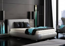 Modern Colors For Bedroom - black turquoise and gray bedroom color concept bedroom design