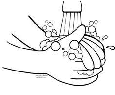 Hand Washing Coloring Sheet - germ coloring page for louis pasteur lesson preschool history