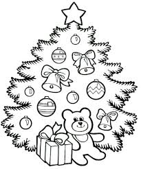 cute christmas tree coloring christian coloring pages