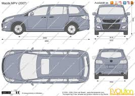 mitsubishi mpv 2000 the blueprints com vector drawing mazda mpv