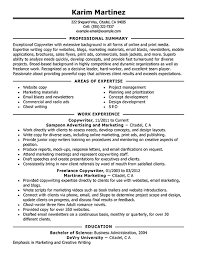 Freelance Resume Sample by Copywriter Resume Sample Resume Samples And How Write Companion