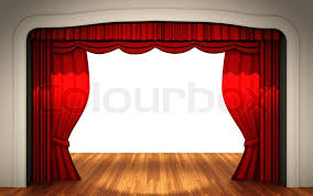Stage With Curtains Stage With Open Curtain Stock Photo Colourbox