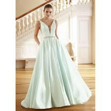 beading wedding dresses green chapel simple aline sleeveless v neck satin beading