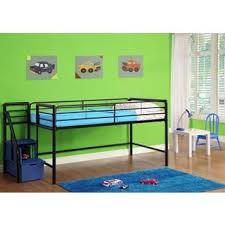 black twin low loft bed with desk and shelves free shipping