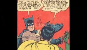 Memes De Batman Y Robin - se cumplen 50 a祓os de la cachetada de batman a robin el