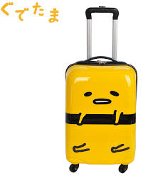 travel luggage images Japan sanrio gudetama egg 18 quot travel luggage hard shell jpg