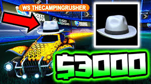 i bid white hat auction i bid 3000 for this item rocket league