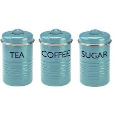 black kitchen canisters sets kitchen canisters accessories tea coffee sugar canister set blue