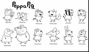 superb peppa pig friends coloring pages printable with peppa pig