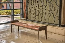 Landscape Timber Bench Public Bench Traditional Wooden Metal Melville By Robert