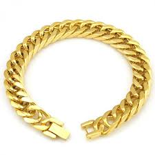 bracelet gold man stainless steel images Men bracelet silver color gold color black stainless steel jpeg