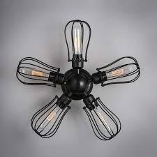 Industrial Style Ceiling Fan by 30 Industrial Style Lighting Fixtures To Help You Achieve