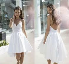 nurit hen backless lace beach short wedding dresses garden