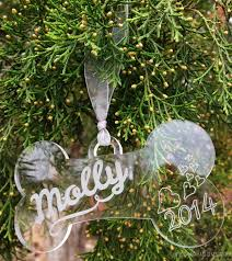 personalized bone ornament from marked moments miss molly says
