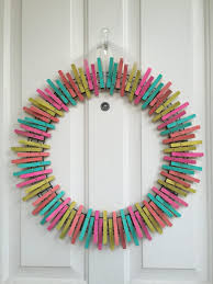diy summer clothespin wreath