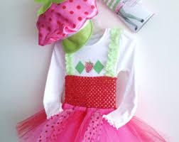 Strawberry Shortcake Halloween Costume Jam U0027s Grandmas Tutu Jamsgrandmastutus Etsy