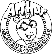 arthur ten years pbs coloring page wecoloringpage