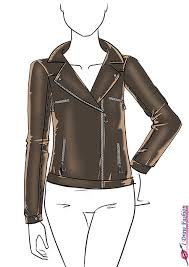 draw a leather jacket i draw fashion