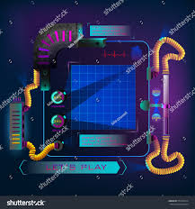 Find Map Coordinates Hud Futuristic Game Display Headsup Display Stock Vector 576726214