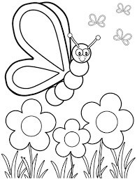 free printable spring coloring pages spring butterfly