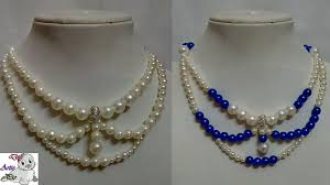 pearl bead necklace diy images 91 how to make pearl beaded necklace diy jewellery making jpg