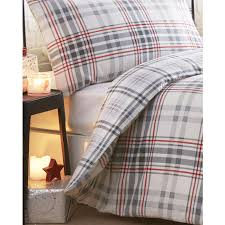 Brushed Cotton Duvet Covers Check Printed Brushed Cotton Bedding Sets