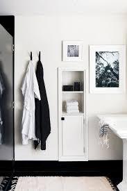 recessed bathroom shelves transitional bathroom