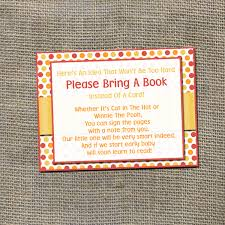 bring a book instead of a card baby shower bring a book instead of a card
