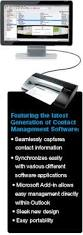 Cardscan Personal Business Card Scanner V9 Dymo Cardscan