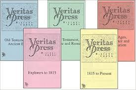 veritas press history cards set of 5 books