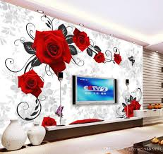 custom any size red rose tv wall decorative painting mural 3d custom any size red rose tv wall decorative painting mural 3d wallpaper 3d wall papers for tv backdrop background wallpaper wallpapers downloads from
