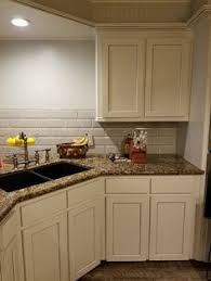 Baltic Brown Granite Countertops With Light Tan Backsplash by Annie Sloan French Linen Paint Baltic Brown Granite Our Granite