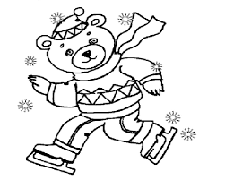 winter coloring pages teddy bear free coloring pages happy