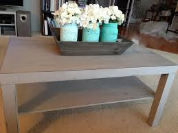 Distressed Table Rustic Painted Coffee Table