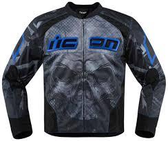 blue motorcycle jacket icon gloves singapore icon hooligan 2 textile jacket jackets blue