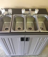 restaurant hand washing sink portable sink mobile concession 3 compartment with hand wash sink