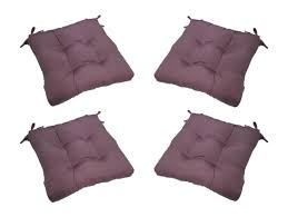 Patio Chair Cushions Set Of 4 by Set Of 4 Indoor Outdoor Solid Lilac Lavender Purple